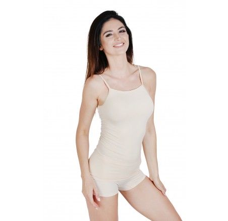 T-shirt with narrow straps