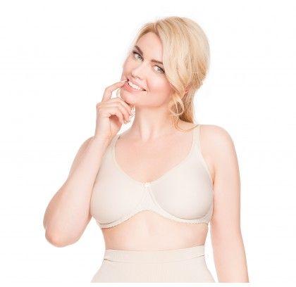 A soft bra with underwires