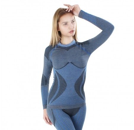 Women's seamless wool thermoactive shirt AlpacaWool
