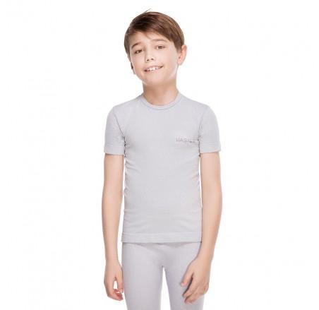 Dziecięca koszulka termoaktywna bezszwowa z krótkim rękawem supplex JUNIOR