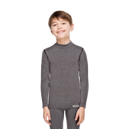 Children's thermoactive, seamless, wool T-shirt with long sleeves JUNIOR