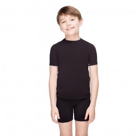 Bezszwowa, bawełniana koszulka dziecięca z krótkim rękawem JUNIOR