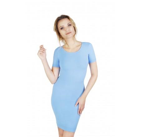 Sukienka korygująca krótki rękaw nad kolano