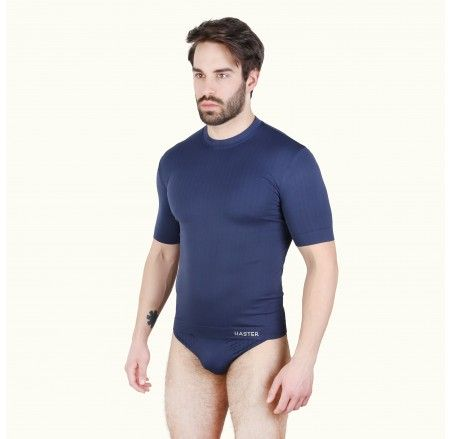 Seamless T-shirt with short sleeves, U-neck